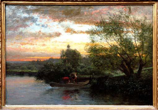 2 pêcheurs-Toile d'un autre peintre bressan