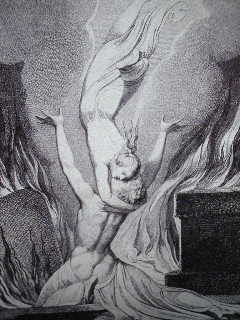 Réunion alma cuerpo - Blake -(illustration de l'Enfer de Dante)