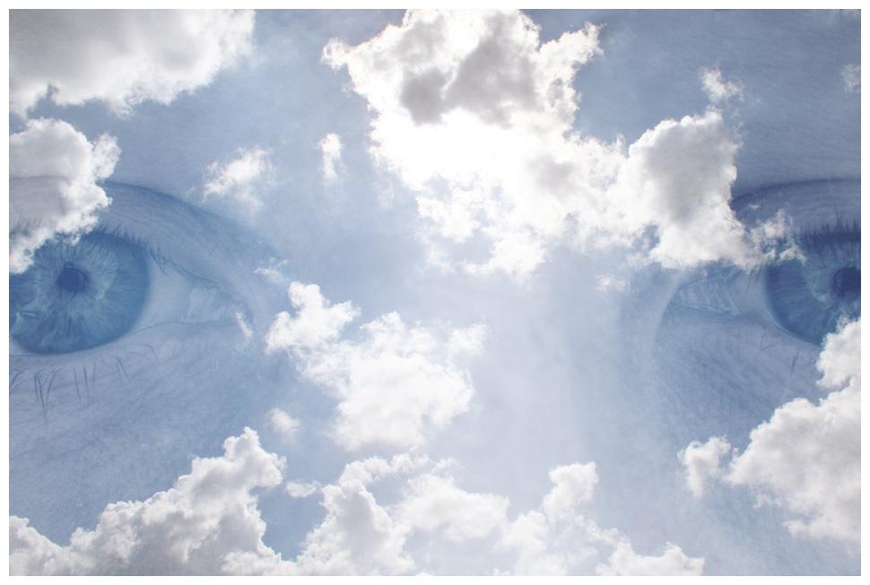 le huit des yeux dans les nuages du ciel de la vie