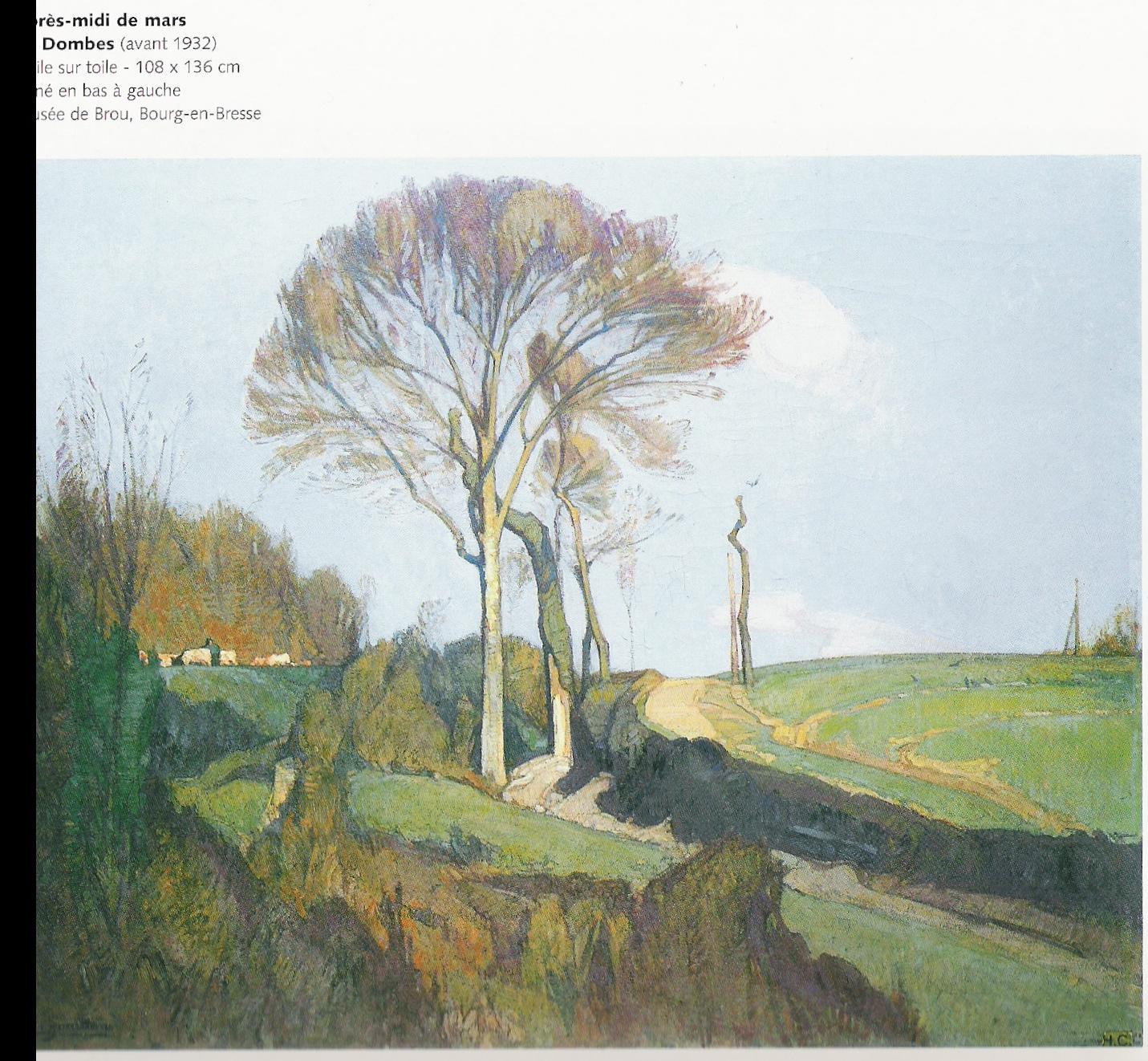 Après-midi de mars en Dombes (avant 1932)-Huile sur toile 108x136cm-Musée de Brou à Bourg en Bresse