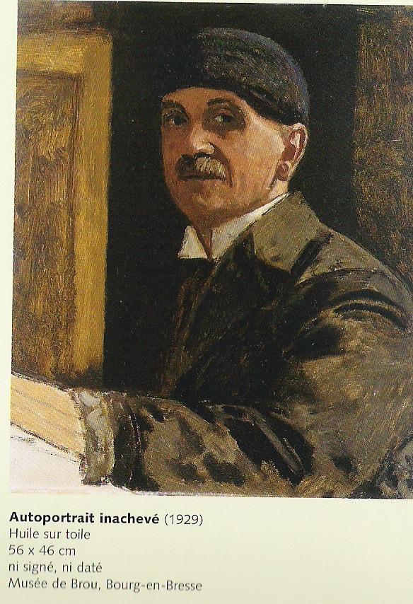 Autoportrait inachevé de Jules Migonney (Peintre originaire de l'Ain)