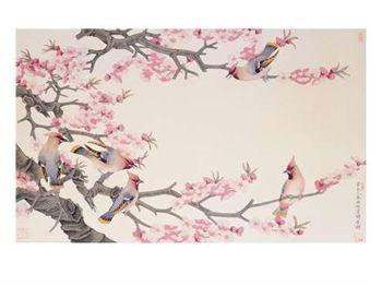 Oiseaux chantant au printemps
