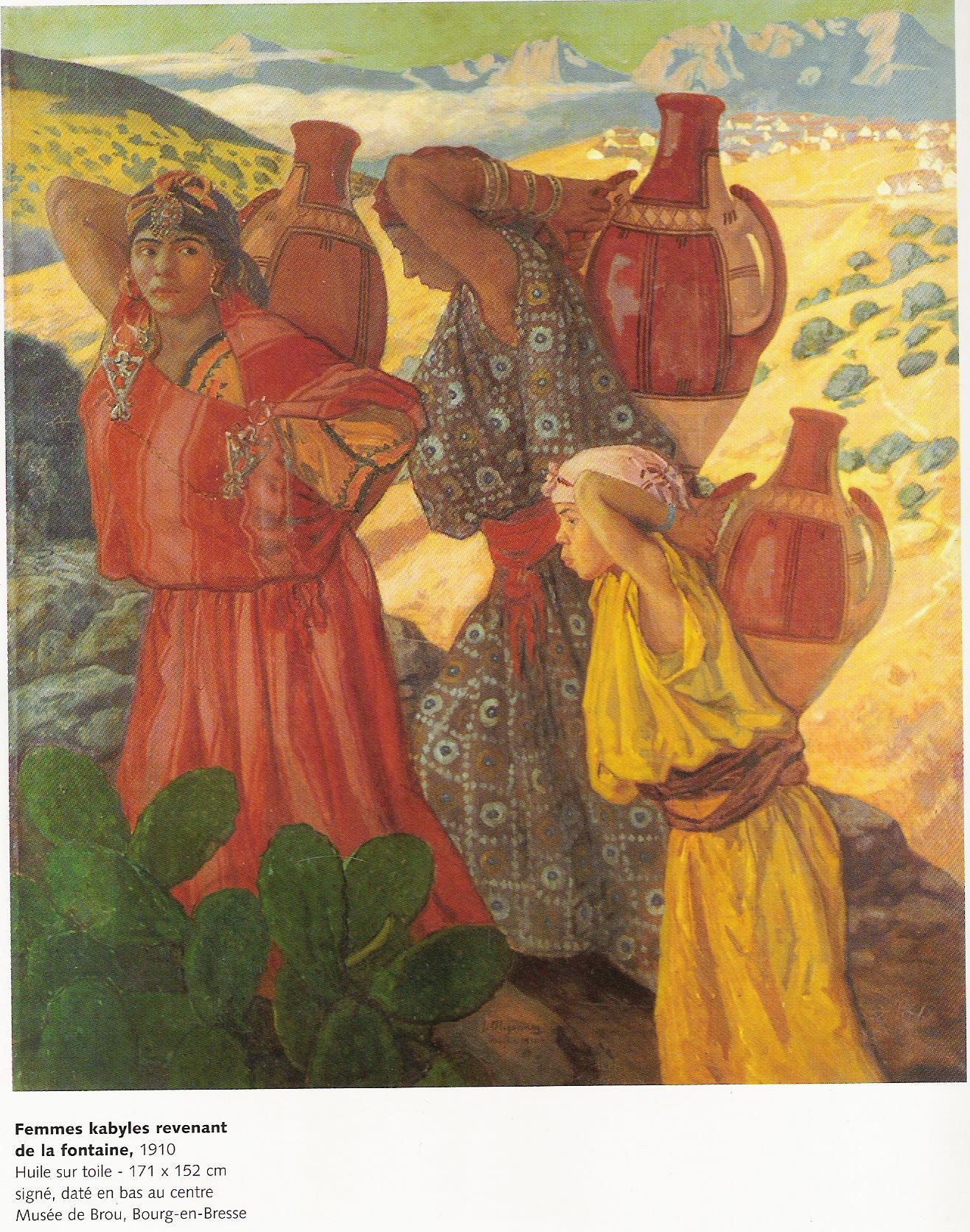 Femmes Kabyles revenant de la fontaine-1910-Jules Migonney-Huile sur toile 171x152cm-Musée de Brou à Bourg en Bresse