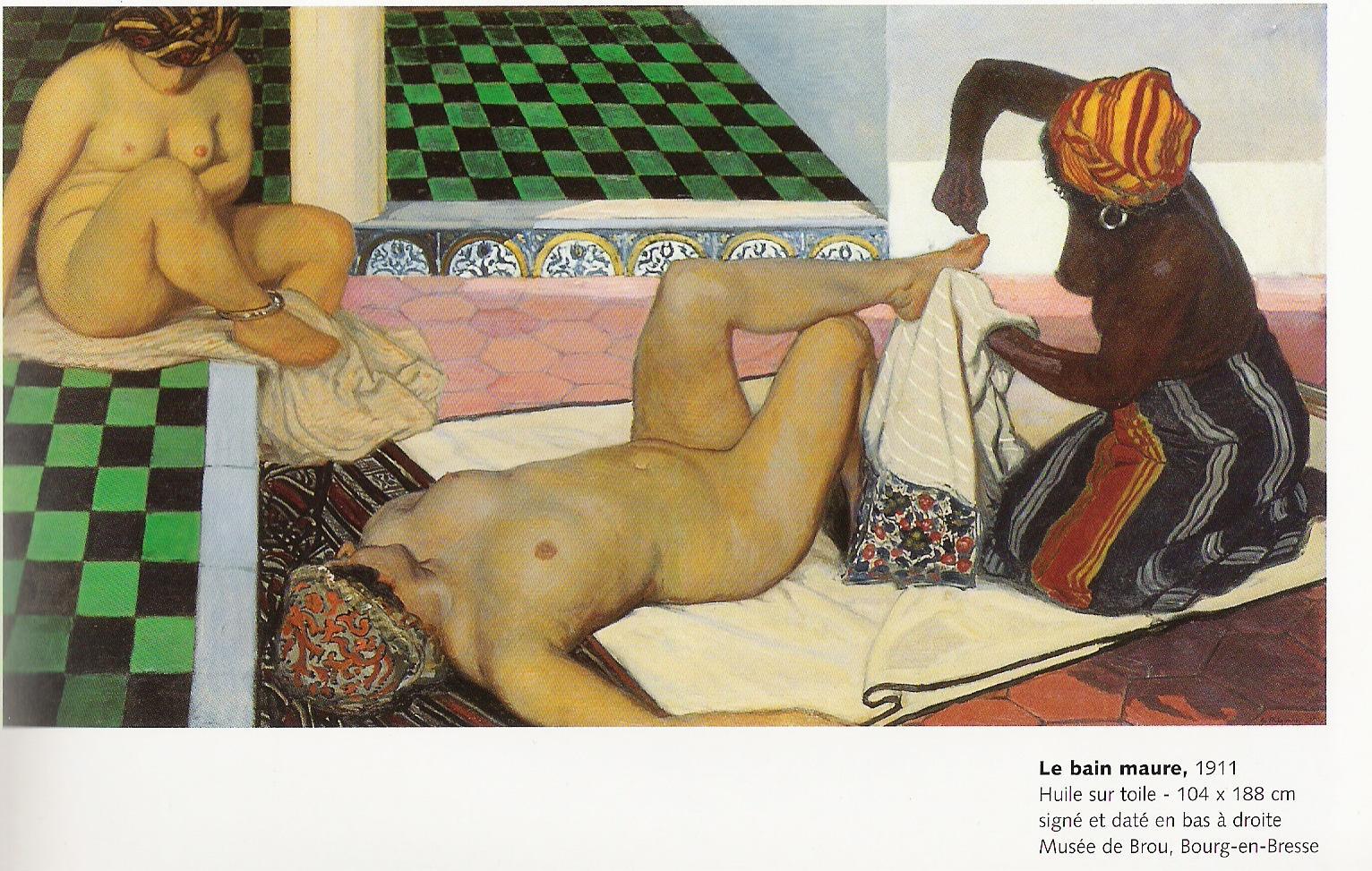 Le Bain Maure peint par Jules Migonney en 1911-huile sur toile 104x188cm-Musée de Brou à Bourg en Bresse