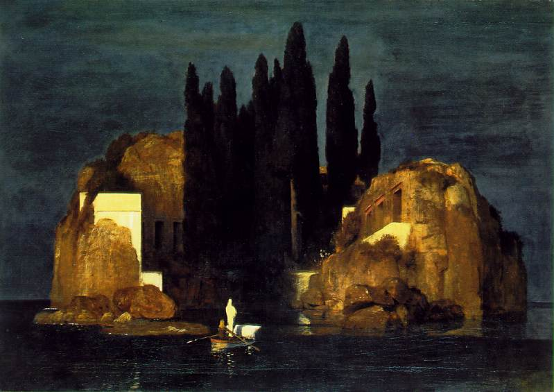 Arnold Böcklin-Die Töteninsel-The Isle of dead-L'ïle du mort