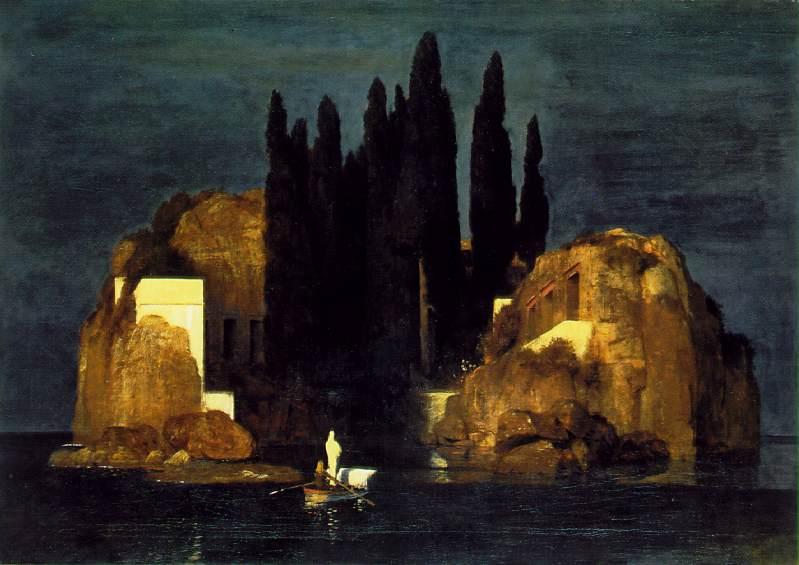 Arnold Böcklin-Die Töteninsel-The Isle of dead-L'ïle du mort