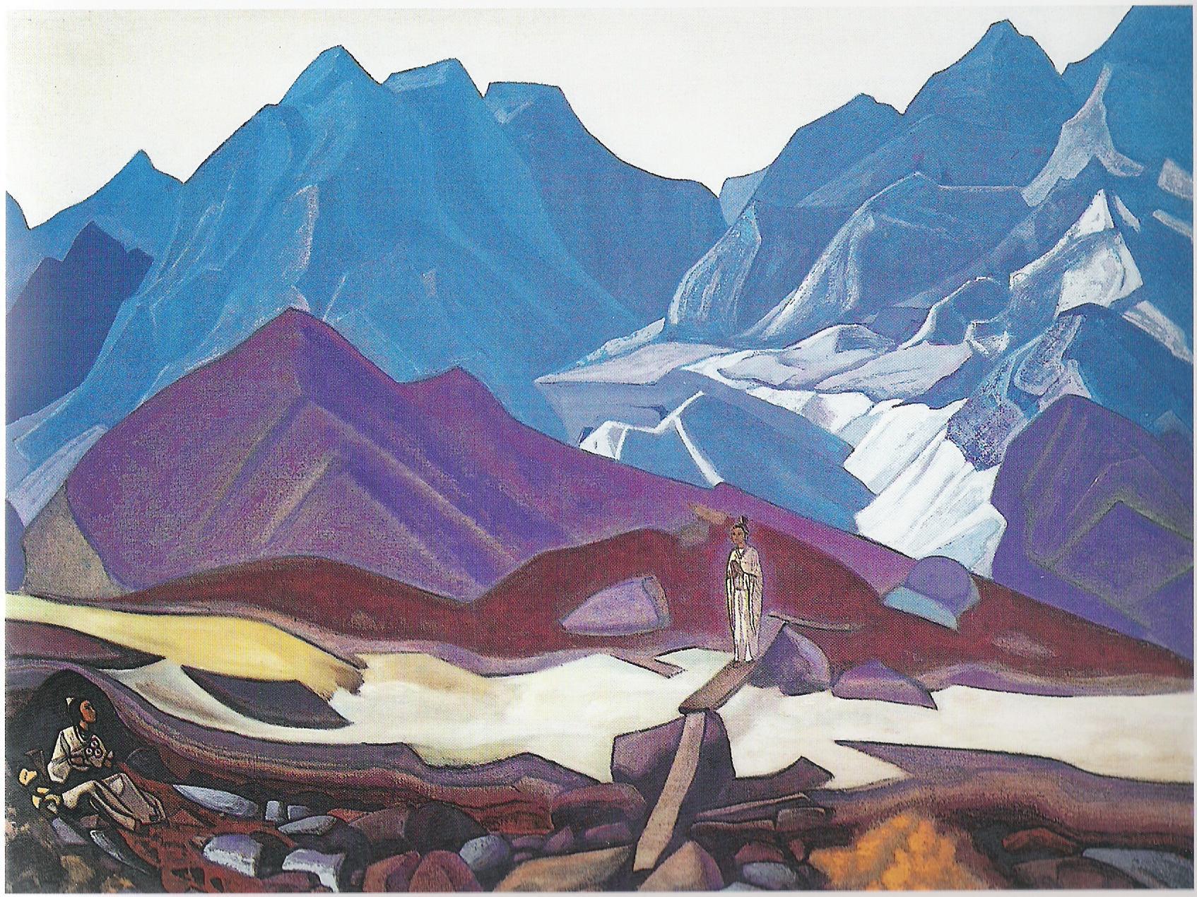D'Au-delà-1936-Détrempe sur toile--104x134,6cm-Musée Nicolas Roerich-New York