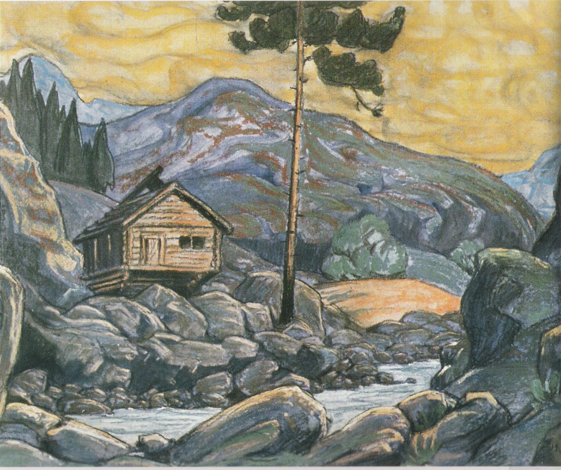 Décor pour Peer Gynt-1911-Pastel sur carton-65x50cm-Musée Nicolas Roerich New York