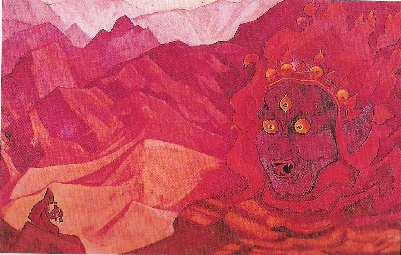 Dorje l'audacieux-1925-Détrempe sur toile--72,4x103,5cm-Musée Nicolas Roerich New York