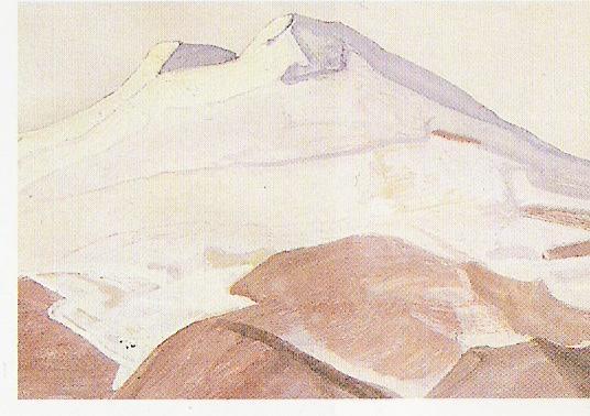 L'Elbourz 1913-Détrempe sur toile-35,5x25cm-Musée Nicolas Roerich-New York