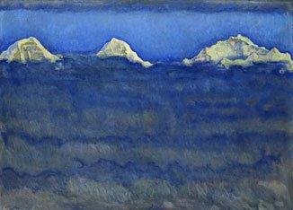 Ferdinand Hodler - L'Eiger,le Monch et la Jungfrau au dessus de la mer de brouillard