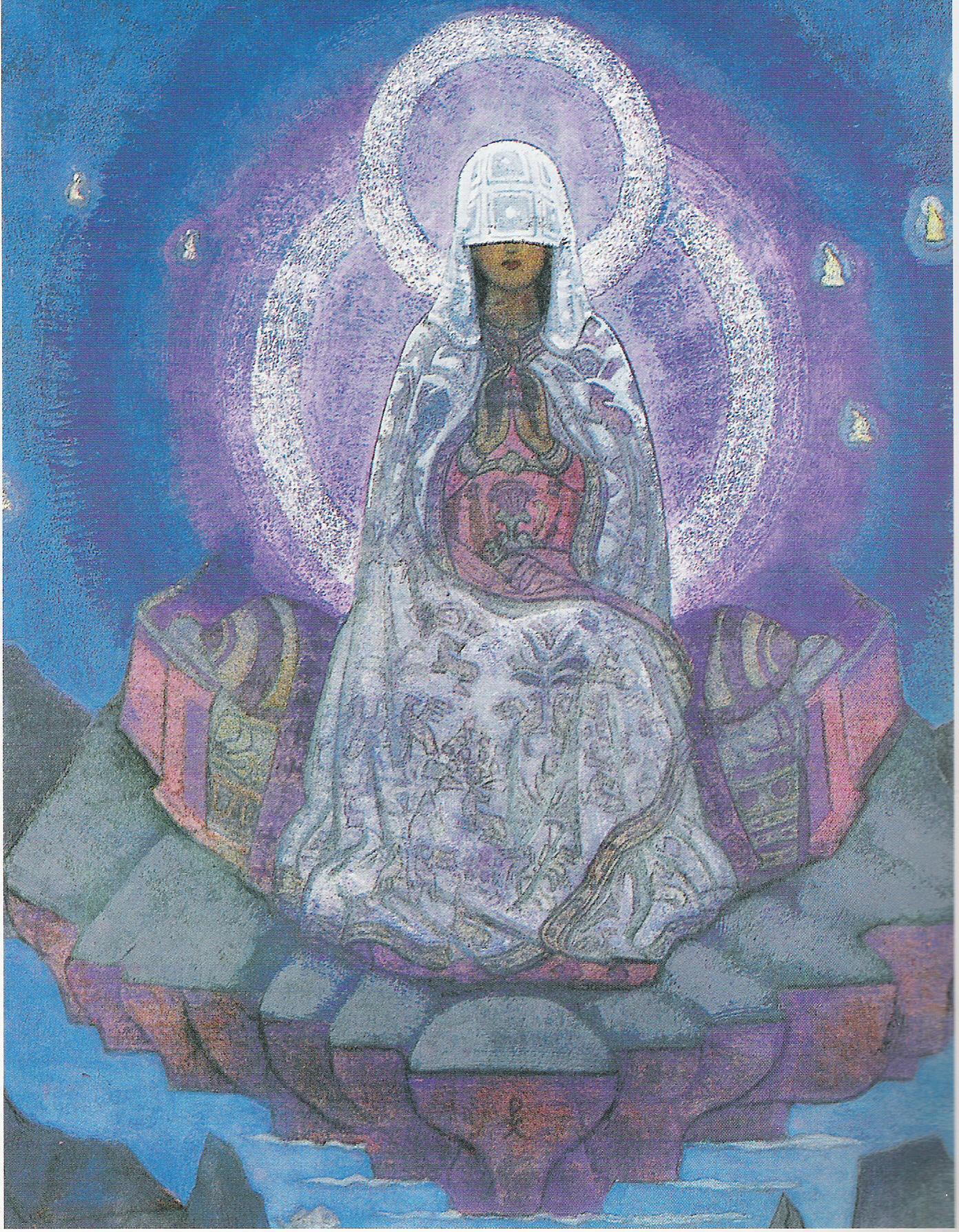 La Mère du Monde-année 1930-Détrempe sur toile-72,4x130,5cm-Musée Nicolas Roerich-New York
