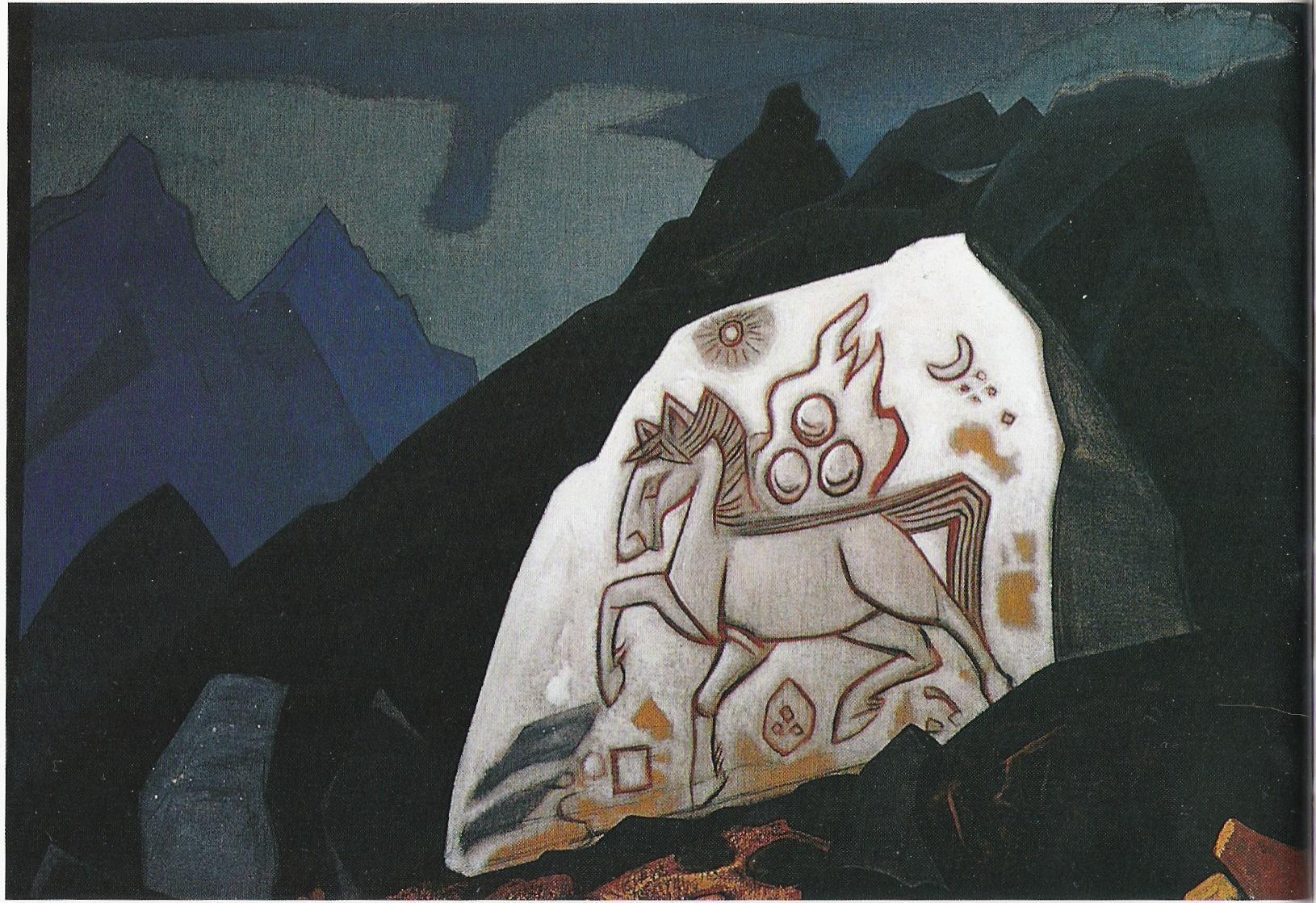 La Pierre blanche-1933-Détrempe sur toile-105,4x82,5cm-Musée NicolasRoerich New York