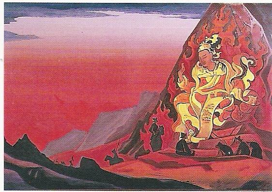 Le Commandement de Ringden Djepo-année 1930-Détrempe sur toile-99x63,5cm-Musée Nicolas Roerich New York