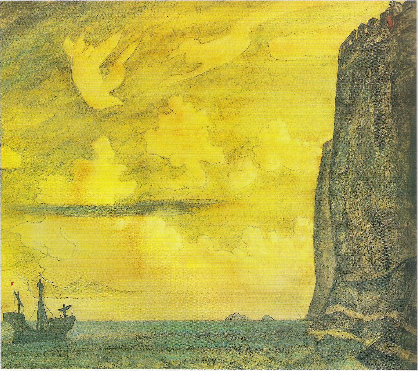 Le Messager-1914-Charbon et Pastel sur carton-75x88,9cm-Musée Russe Saint Pétersbourg