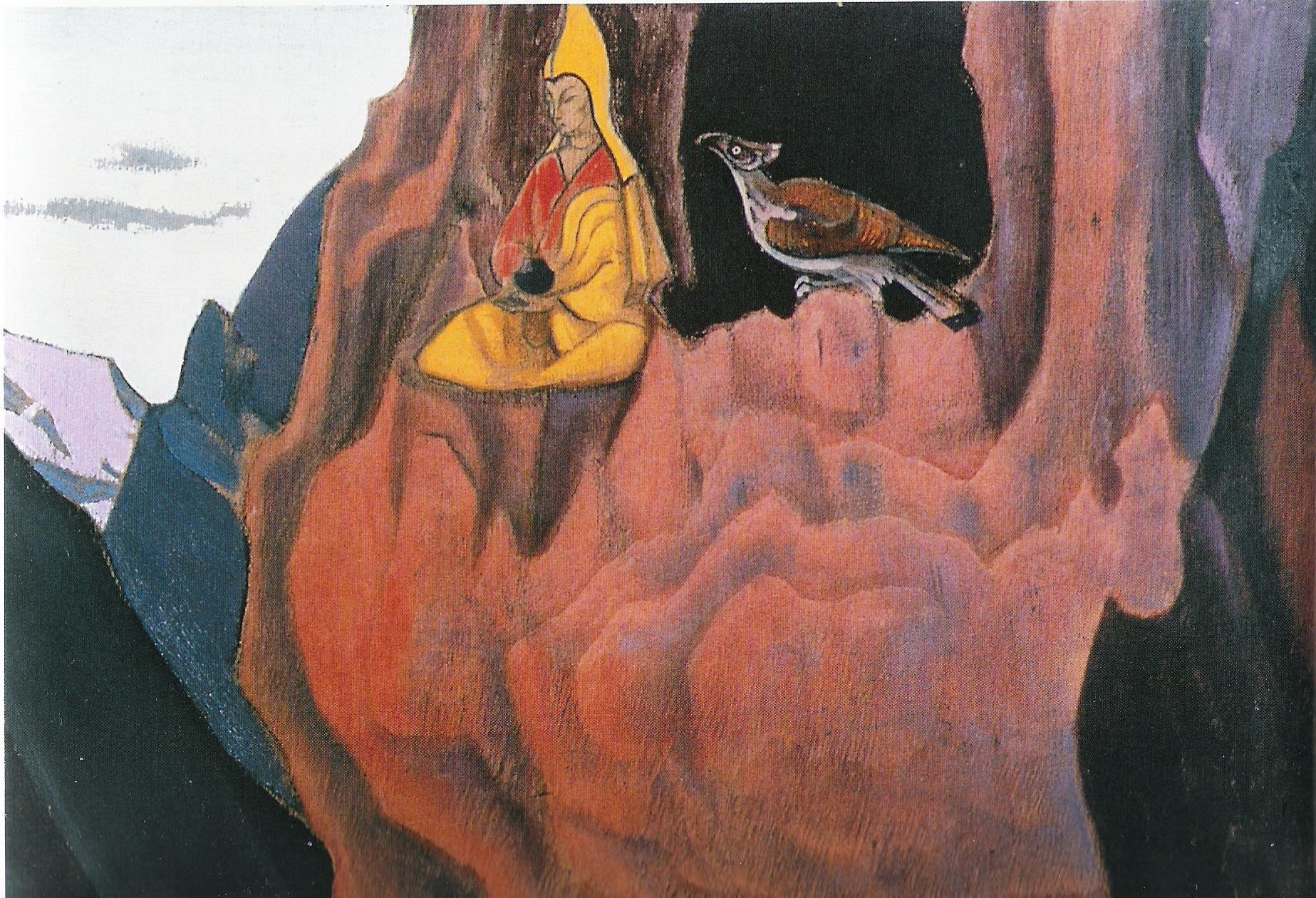 Le Messager de 'aigle-1927-Détrempe sur bois-40,6x32cm-Musée Nicolas Roerich-New York