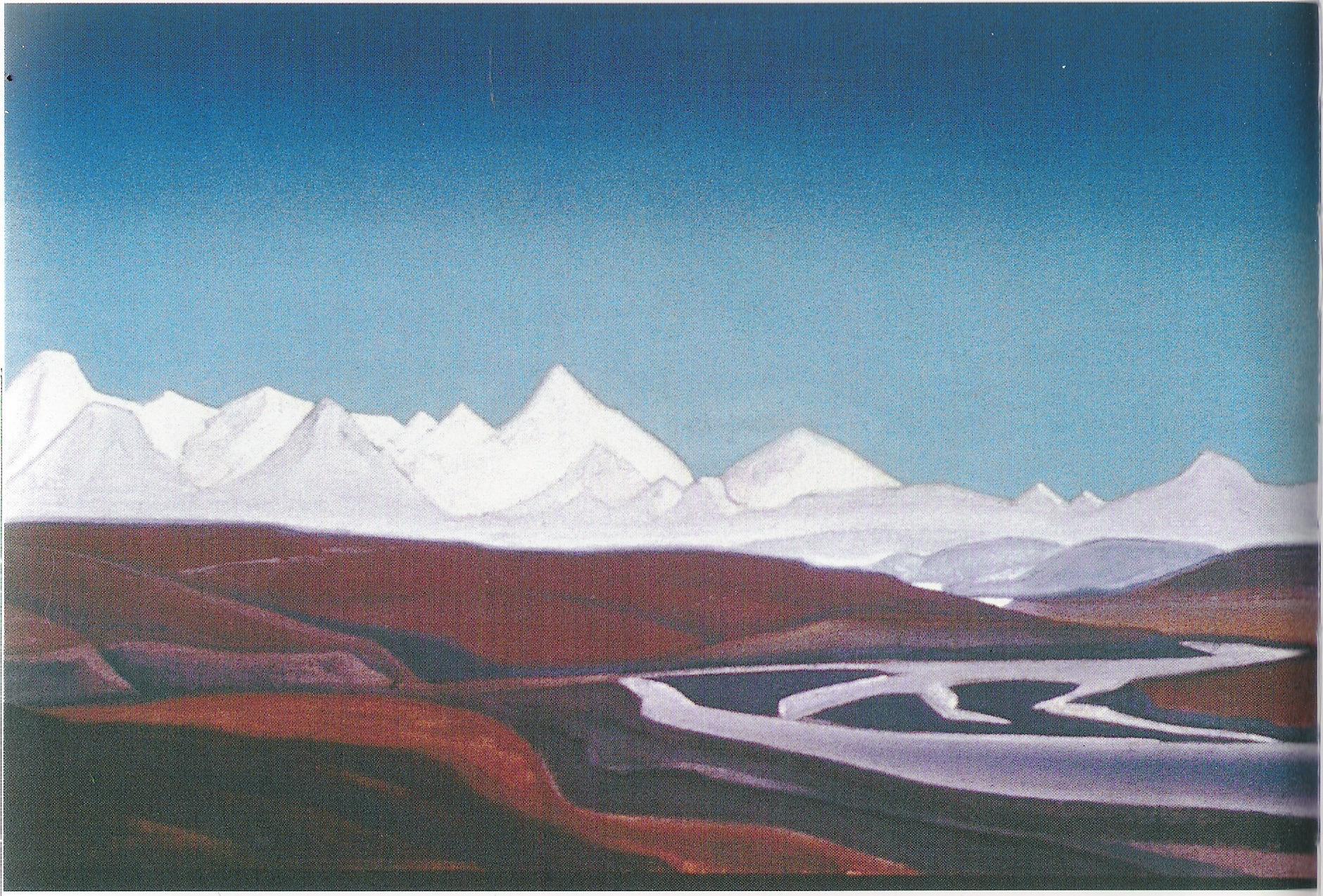 Les Très-grands et Très-sacrés du Thang Lo-1928-1929-Détrempe sur toile-97,1x61,6-Musée Nicolas Roerich-New York