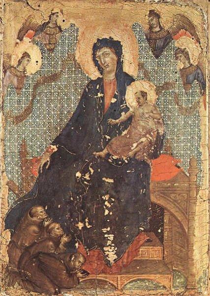 Madone des franciscains(1300) - Duccio de Buoninsegna