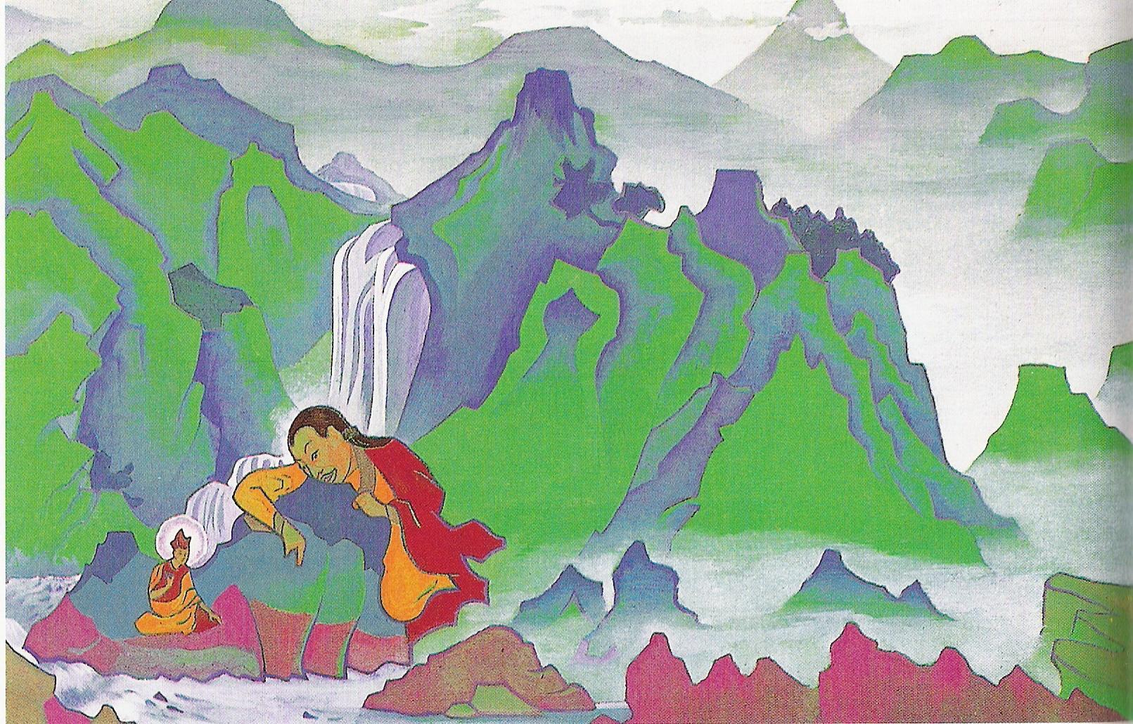 Padma Sambhava-1924-Détrempe sur toile-73,6 x 117cm-Musée Nicolas Roerich-New York