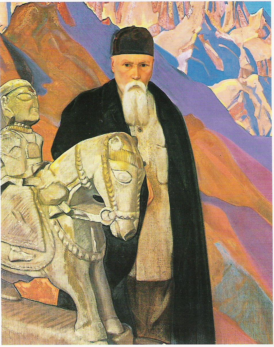 Portrait de Nicolas Roerich - par Svetoslav Roerich-1937 (Huile sur toile-137x150cm-Musée Nicolas Roerich-New York