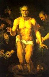 La mort de Sénèque  ( détail) par Paul Rubens