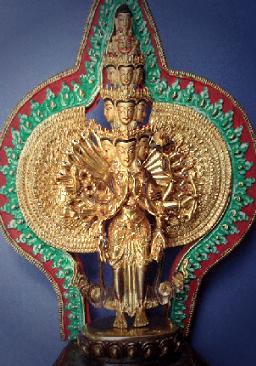 Les mille bras d'Avalokitesvara et ses onze têtes