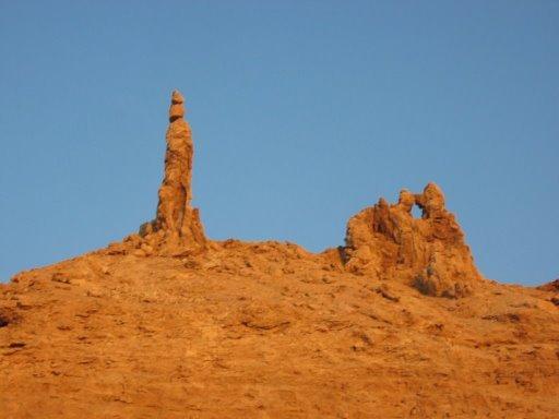 Stature de sel et la femme de loth (jordanie)