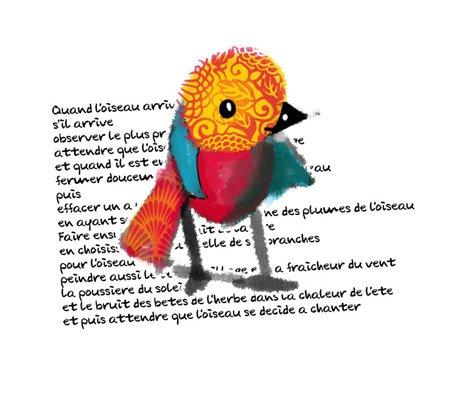 Pour faire le portrait d'un oiseau - Prevert