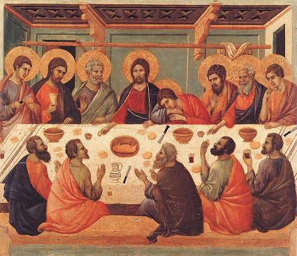 La Cène peinte par Duccio