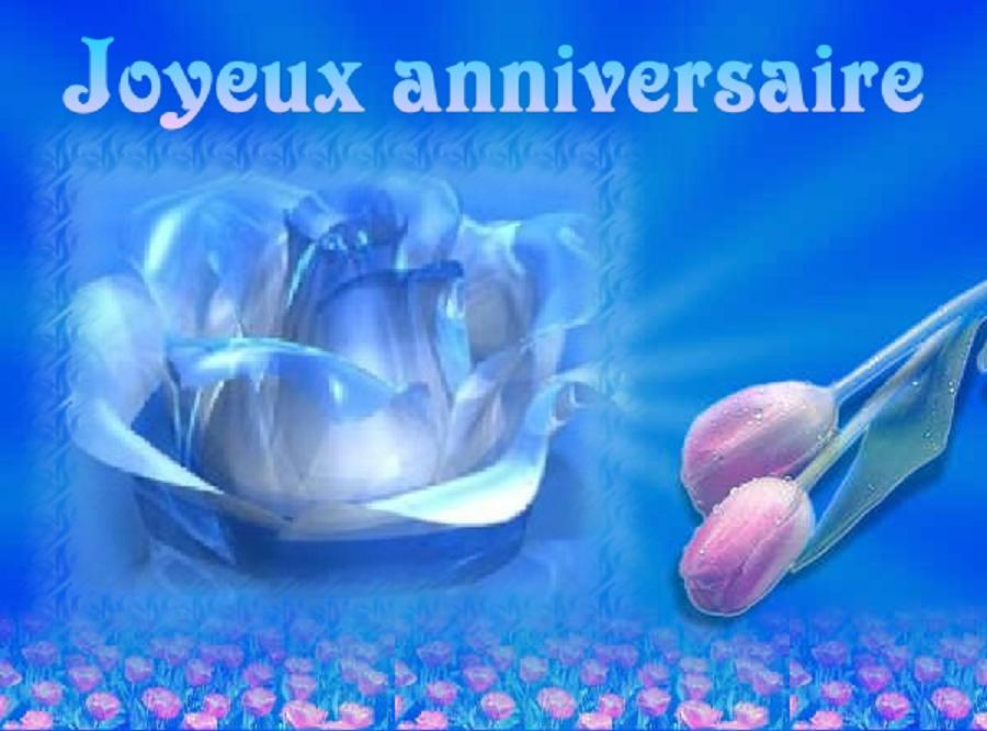 Anniversaire Rose Bleue Patsy d'amour