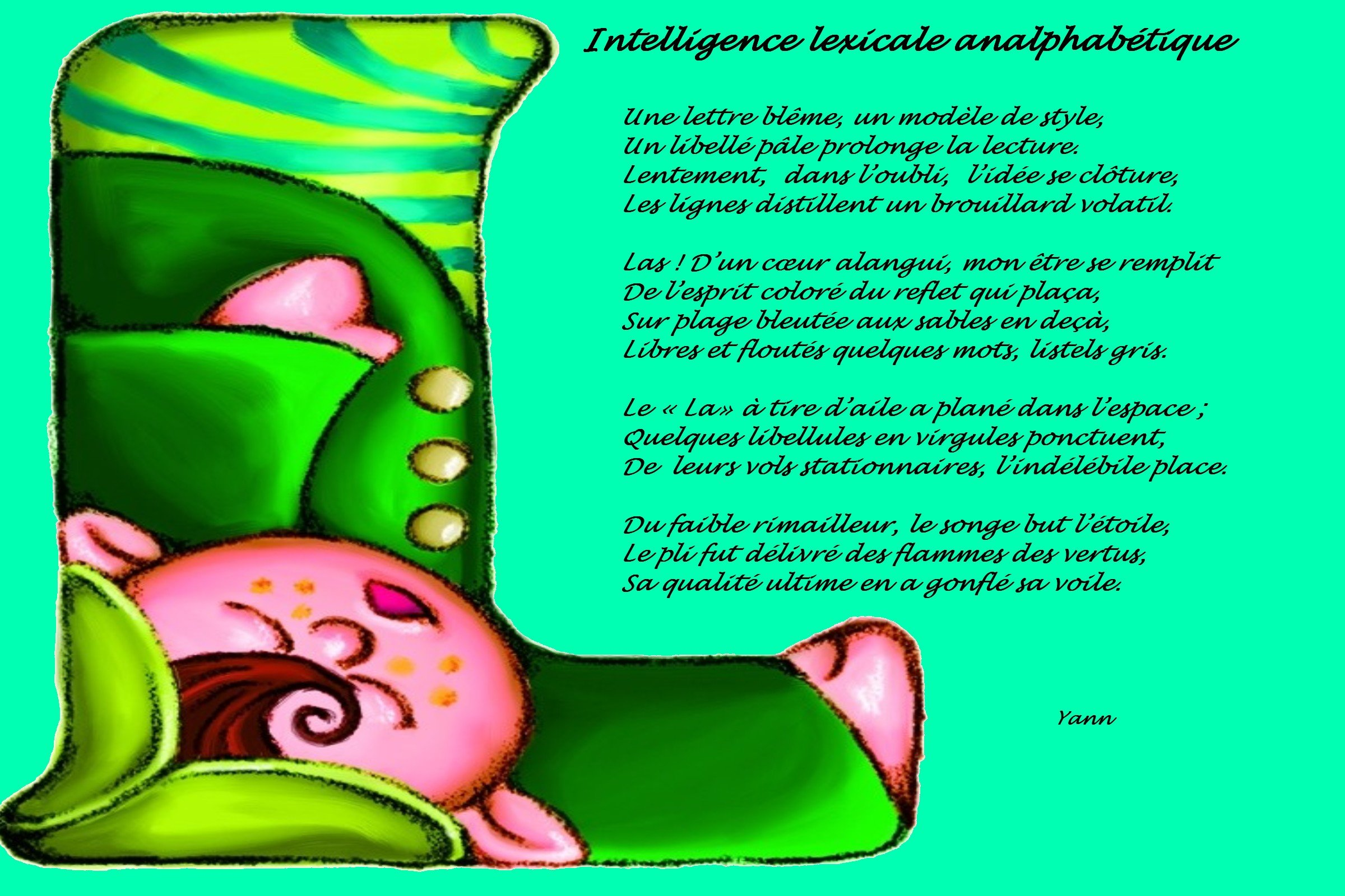 Intelligence lexicale analphabétique (Photopoème)