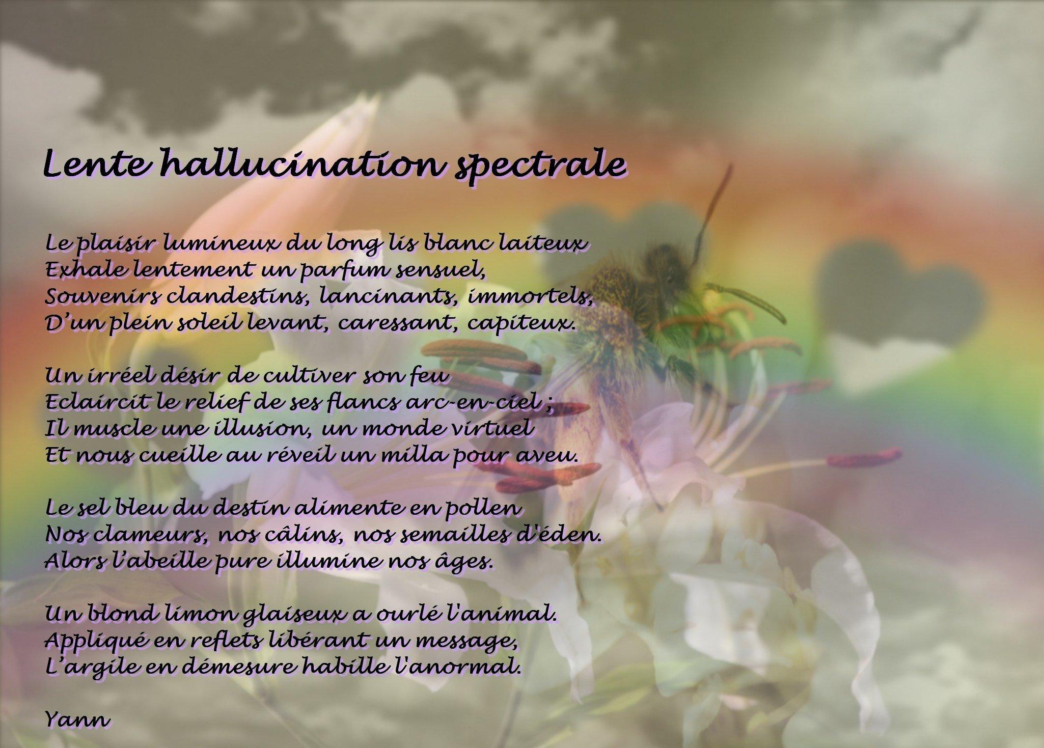 Lente hallucination spectrale (photopoème ok)