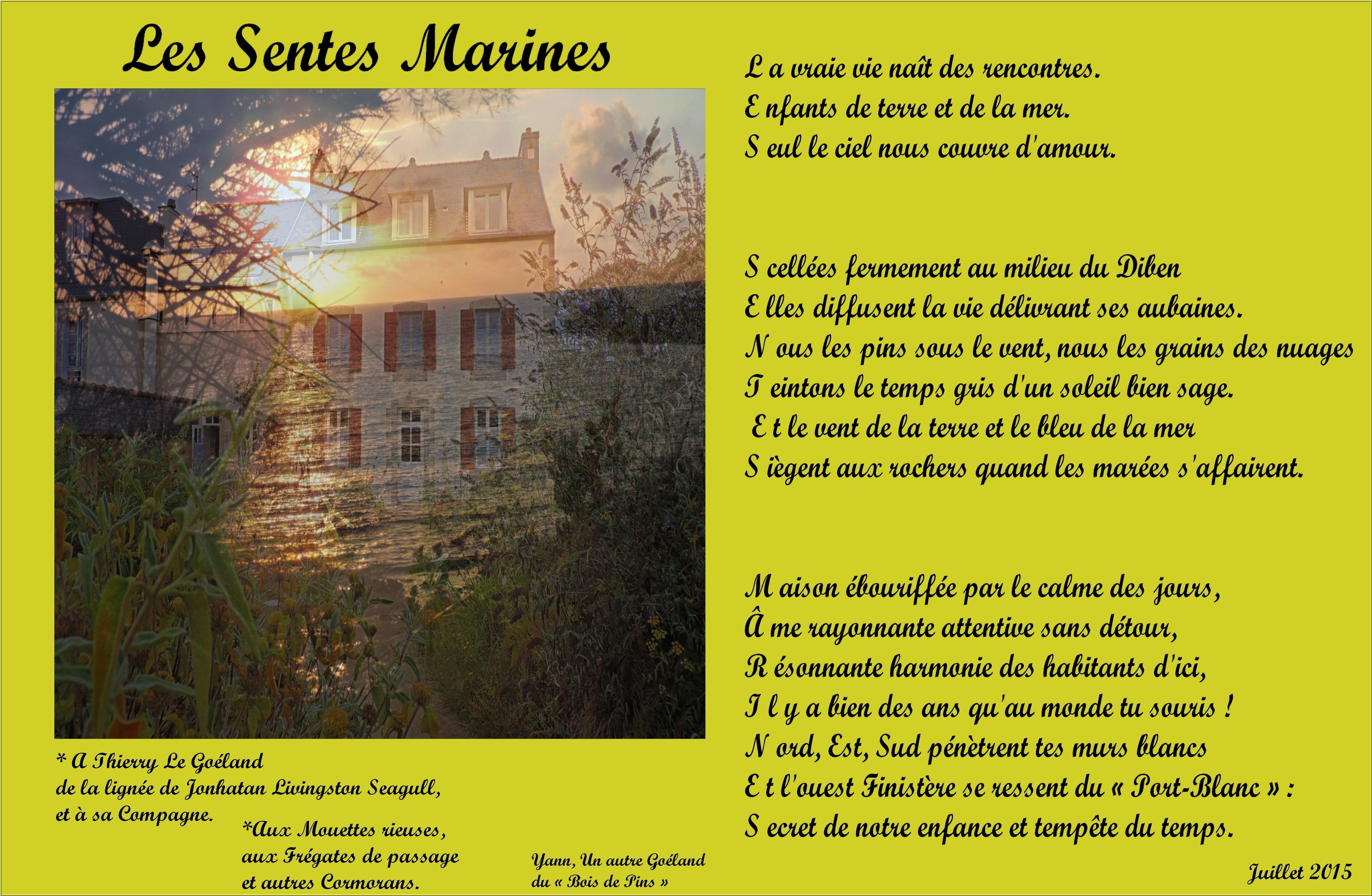 Les Sentes Marine (Photopoème encadré)